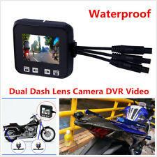 HD Motorcycle Sports Action Dual Dash Lens Camera DVR Video Recorder Waterproof