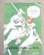 R.I. STATE @ NORTHEASTERN COLLEGE FOOTBALL PROGRAM - 1951 - EX/NM SHAPE