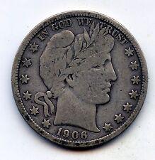 1906-d Barber half (SEE PROMO)
