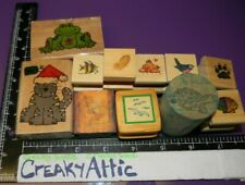 Clearance Animals Cat Frog Turtle Fish 11 Rubber Stamps Westwater Creakyattic