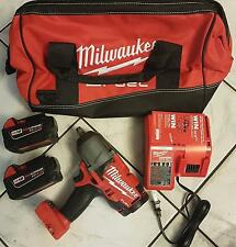 "Milwaukee M18 1/2"" Impact Wrench 2763-20 5.0 Batteries (2) Charger & Bag 2763-22"