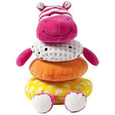 Manhattan Toy Hippo Stacking Toy giggle Stacker Pink Orange Yellow Cloth 9m+ NEW