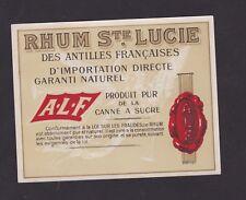 Ancienne étiquette   Alcool  France Rhum Ste Lucie  BN46593