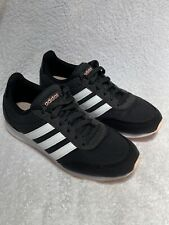 Adidas Low Top Womens Size 6 Stripe Shoes Sneakers SPG 753001 Black White