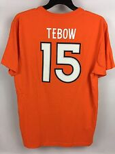 Men's Denver Broncos TIM TEBOW #15 Jersey-Style T-Shirt Reebok - Large - EUC