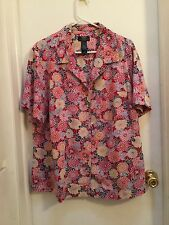 Crazy Horse, ladies top size 2X, Pinks, Short sleeves EUC