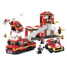 Fire Station w/ Sound & Lights Building Set BRICTEK 11304 BICY1304 works w/ LEGO