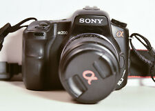 SONY A-200 DIGITAL CAMERA W/ 35-70MM LENS + 70-300MM TELE-ZOOM+CHARGER+FILTERS