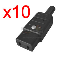 x10 IEC C9 Black Mains Connector Marantz Revox Roland (10 PCS)