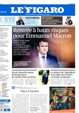 Le Figaro 28/8/2017**MACRON fonce*Mélenchon attaque*1 seconde,1000 selfies**TRUM