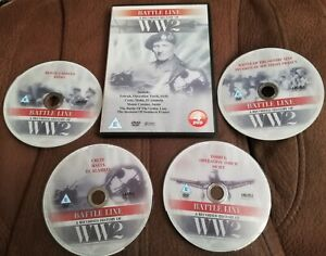 BATTLE LINE A RECORDED HISTORY OF WORLD WAR 2  2007 DVD 4 DISCS