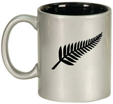 11oz Ceramic Coffee Tea Mug Glass Cup New Zealand Silver Fern