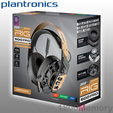 Plantronics RIG 500 Pro Gold Gaming Headset Over Ear Wired 3.5mm for PC Xbox PS4