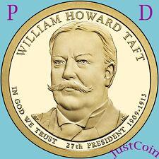 2013 P&D WILLIAM HOWARD TAFT GOLDEN PRESIDENTIAL DOLLARS SET UNCIRCULATED