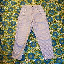 New listing Vintage 80s 90s Lee Pants - blue & white striped Vtg Railroad Painter carpenter