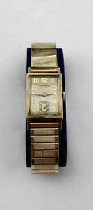 "Vintage Men's Hamilton ""Donald"" 14K Yellow Gold Wristwatch Cal. 982 19j Running"