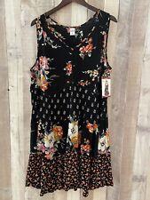 Bila Dress Size XL 1X 2X NWT Boho Shabby Chic Sleeveless Summer Flowy Floral