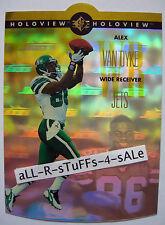 1996 UD SP Holoview ALEX VAN DYKE Rookie RC Die-Cut NEW YORK JETS Wolf Pack #41