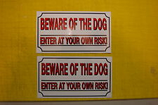 3 BEWARE OF THE DOG SAFETY  sticker ALL WEATHER vinyl sign security fence sign