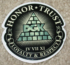 "DGK Logo Skate Sticker HONOR TRUST LOYALTY 3"" skateboards helmets decal diamond"