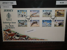 Jersey 1998 Complete Set (864-871) On Fdc. Sea Birds And Waders