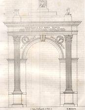 1843 Nuova porta Ferdinanda a Noto litografia