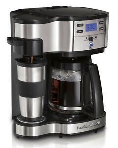 Coffee Maker Single Serve Full 12 Cup Coffee Pot Set Programmable 2-Way Brewer