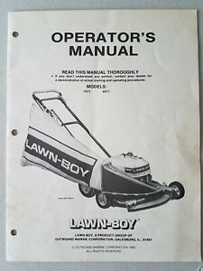 LAWN-BOY Operator's Manual Model 7071 8071
