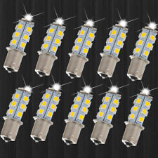 10 X Warm White 1156 BA15S LED 18-SMD Light bulbs Tail Backup RV Camper DC 12V