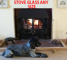 Aarrow Apex Stove Glass -  260mm x 220mm  - Robax - Wood Burner And Multi Fuel