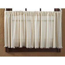 "Tobacco Cloth Natural Tier Set by VHC Brands - Lined - 24"" x 36"""