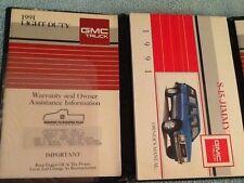 1991 S-15 JIMMY GMC TRUCK OWNERS MANUAL OPERATORS GLOVE BOX BOOK MAINTENANCE