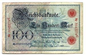 Germany (P22) 100 Mark 1903 aVF