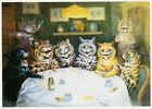 Louis Wain print CATS AFTER DINNER CONVERSATION funny cat illustration art