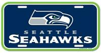 Seattle Seahawks License Logo Plate Schild 30 cm,NFL Football,Neu