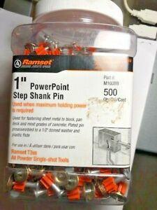 "Lot of 1 Pack Ramset .125/.150""x1"" Premium Step Shank 500 Per Pack Pin FREE SHIP"