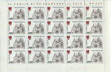 Vaticano 1980 Annata completa in fogli + Posta Aerea Sotto il Facciale