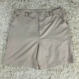 Under Armour Mens 38 Beige Embroidered Logo Golf Shorts