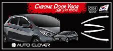 Chrome Weather shields 4pcs for 2012/05 ~ 2017 Hyundai i30 GD Hatch