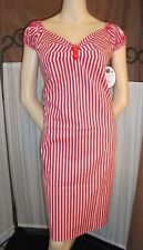 Knee Length Wiggle, Pencil Striped Dresses for Women