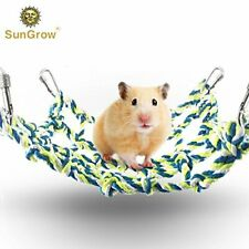 Cotton Rope Net for Small Pets: Hanging Hammock for Cage,Net Pet Bed for Hamster