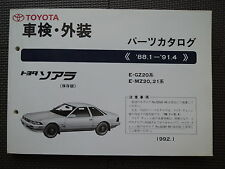 JDM TOYOTA SOARER Z20 Series 1988.1-1991.4 Original Genuine Parts List Catalog