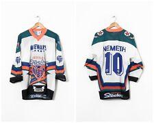 90s Vintage Mens SHEFFIELD STEELERS #10 Nemeth Hockey Jersey Shirt White Size XL