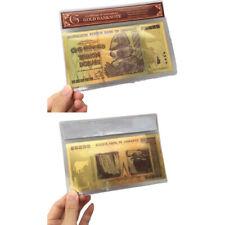 ZIMBABWE Black Gold Foil 100 Trillion Commemorative Dollars Banknote R BL