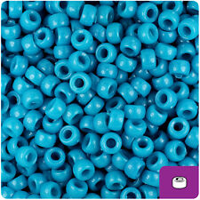 1000 Dark Turquoise Opaque 7mm Mini Barrel Plastic Pony Beads Made in the USA