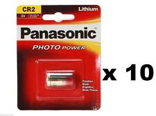 10 x Panasonic CR2 3V Lithium Photo Batteries - Photo Camera - 1CR2 DLCR2