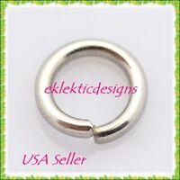 8mm 100pcs 1mm 18 Gauge Stainless Steel Jump Rings Jewelry Findings Open Split