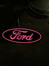 "PINK light Up Ford Grill Emblem 9"" 2005-2010 F250 F350 F450 F550 F150"