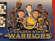 Cheer Card Golden State Warriors Authentic Fan 17-18 Schedule Curry Klay New SGA
