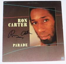 """Ron Carter MILES DAVIS QUINTET Signed Autograph """"Parade"""" Album Vinyl LP JAZZ"""